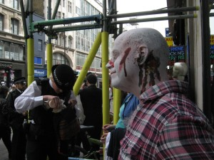 Zombies are informed we are about to be arrested for breach of the peace