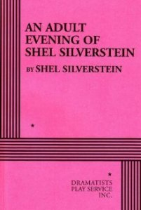 Book cover An Adult Evening with Shel Silverstein. It is a plain pink cover with black text.