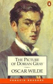 Penguin Classics book cover of picture of dorian Gray featuring a young attractive-ish man with a high neck victorian collar