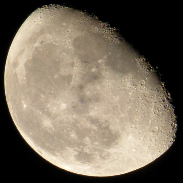 Waning gibbous moon. My own photo.