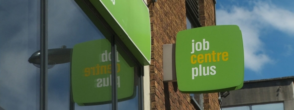 Photograph of job centre sign