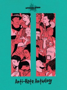 Book cover Spoken Word London Anti-Hate anthology
